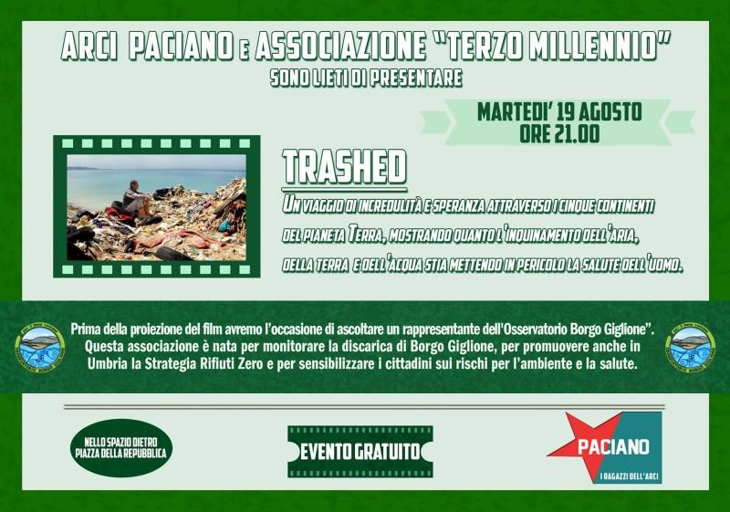 """Martedì 19/08/2014, proiezione di """"Trashed"""" a Paciano"""